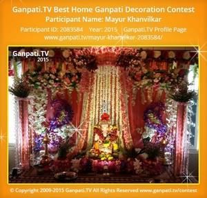 Mayur Khanvilkar Ganpati Decoration