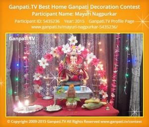 Mayuri Nagpurkar Ganpati Decoration