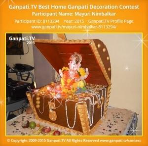 Mayuri Nimbalkar Ganpati Decoration