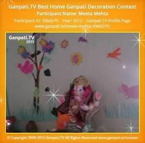 Meeta Mehta Ganpati Decoration