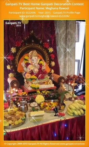Meghana Rawool Ganpati Decoration