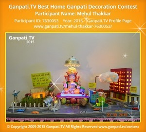 Mehul Thakkar Ganpati Decoration