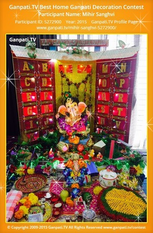 Mihir Sanghvi Ganpati Decoration