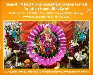 Milind Karnik Ganpati Decoration