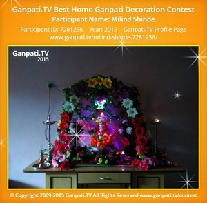 Milind Shinde Ganpati Decoration