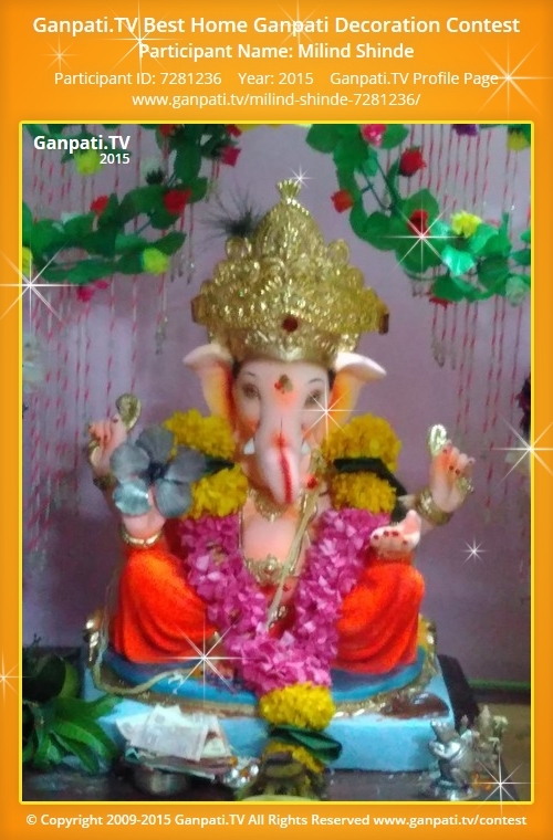 Milind shinde ganpati tv for Artificial flower decoration for ganpati