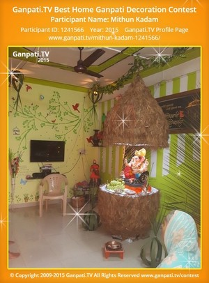 Mithun Kadam Ganpati Decoration