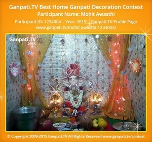 Mohit Awasthi Ganpati Decoration