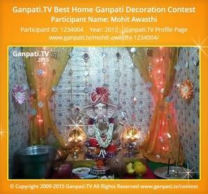Mohit Awasthi Ganpati Decoration