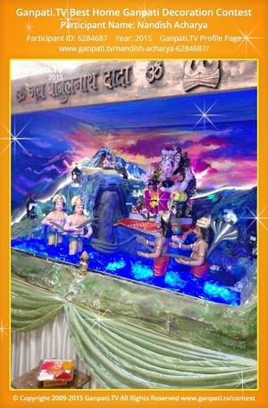 Nandish Acharya Ganpati Decoration