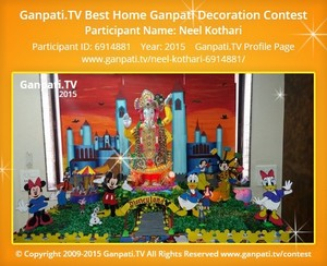 Neel Kothari Ganpati Decoration