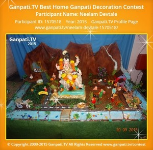 Neelam Devtale Ganpati Decoration