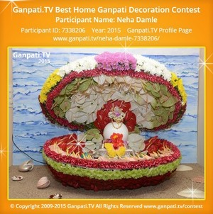 Neha Damle Ganpati Decoration