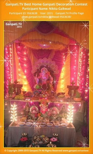 Nikita Gaikwad Ganpati Decoration