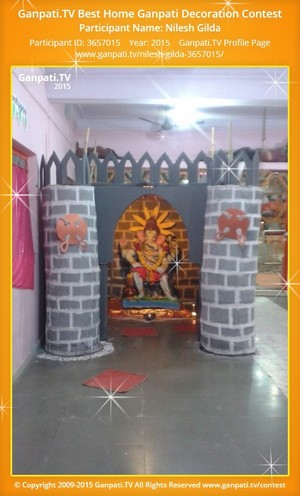 Nilesh Gilda Ganpati Decoration