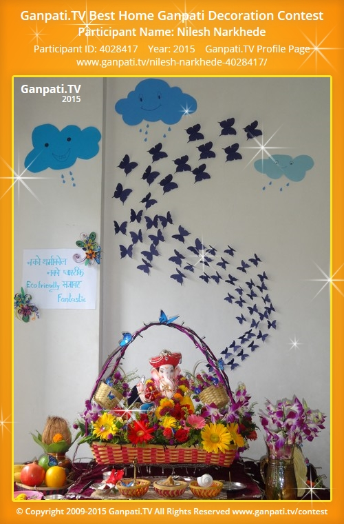 Homemade Decorations For Ganpati