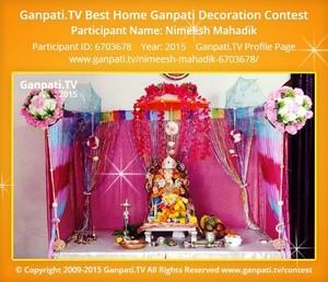 Nimeesh Mahadik Ganpati Decoration