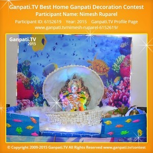 Nimesh Ruparel Ganpati Decoration