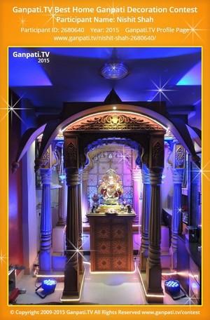 Nishit Shah Ganpati Decoration