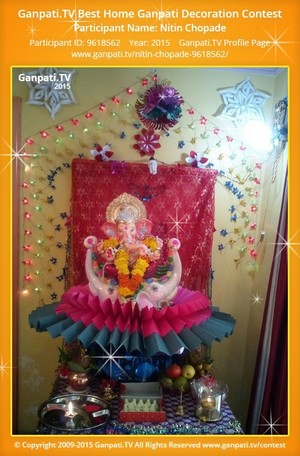 Nitin Chopade Ganpati Decoration