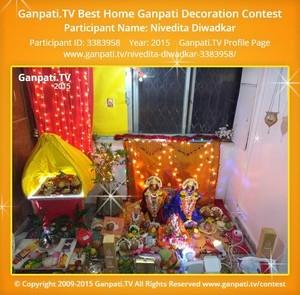 NIVEDITA DIWADKAR Ganpati Decoration