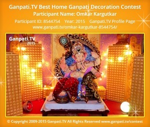 Omkar Kargutkar Ganpati Decoration
