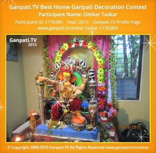 Omkar taskar ganpati tv for Artificial flower decoration for ganpati