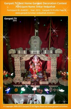 Onkar Vedpathak Ganpati Decoration
