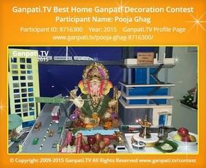 Pooja Ghag Ganpati Decoration