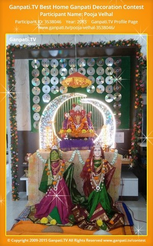 Pooja Velhal Ganpati Decoration