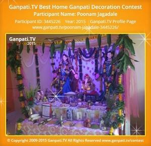 poonam jagadale Ganpati Decoration