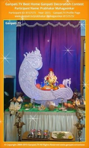 Prabhakar Mahagaonkar Ganpati Decoration