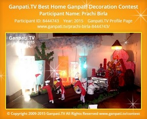 prachi birla Ganpati Decoration