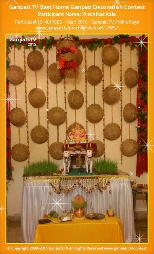 Prachiket Kale Ganpati Decoration
