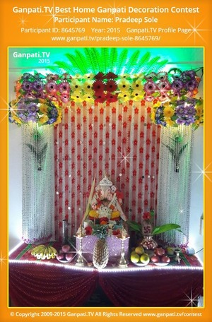 Pradeep Sole Ganpati Decoration