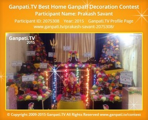 PRAKASH SAVANT Ganpati Decoration