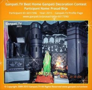 Prasad Birje Ganpati Decoration