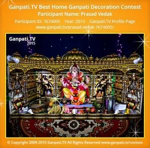 PRASAD VEDAK Ganpati Decoration