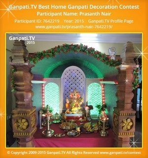 PRASANTH NAIR Ganpati Decoration