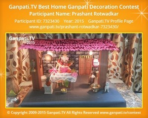 Prashant Rotwadkar Ganpati Decoration