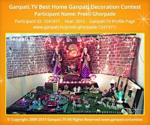 Preeti Ghorpade Ganpati Decoration