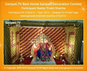 Preeti Sharma Ganpati Decoration