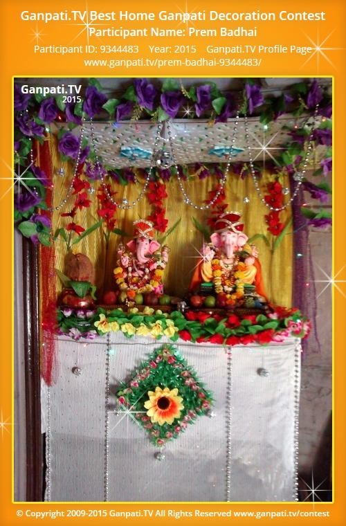 Prem badhai ganpati tv for Artificial flower decoration for ganpati