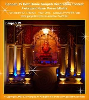 Prerna Mhatre Ganpati Decoration