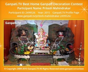 Pritesh Mahindrakar Ganpati Decoration