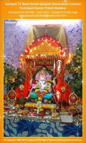 Pritesh Wadekar Ganpati Decoration