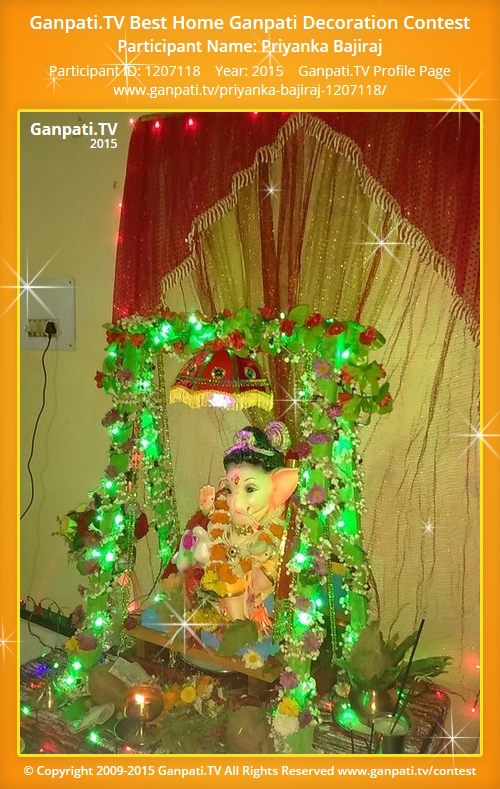Priyanka bajiraj ganpati tv for Artificial flower decoration for ganpati