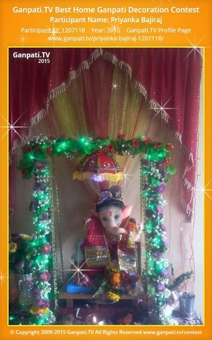 priyanka bajiraj Ganpati Decoration