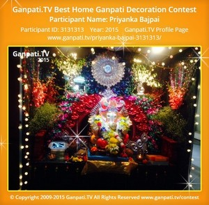 Priyanka Bajpai Ganpati Decoration