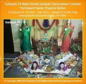 Priyanka Katkar Ganpati Decoration